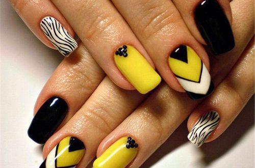 Yellow Nails Art Design
