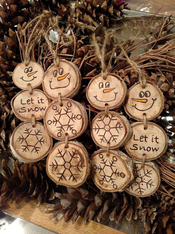 Christmas Wood Crafts.20 Diy Christmas Ornament Tutorials Ideas Wood Sumcoco