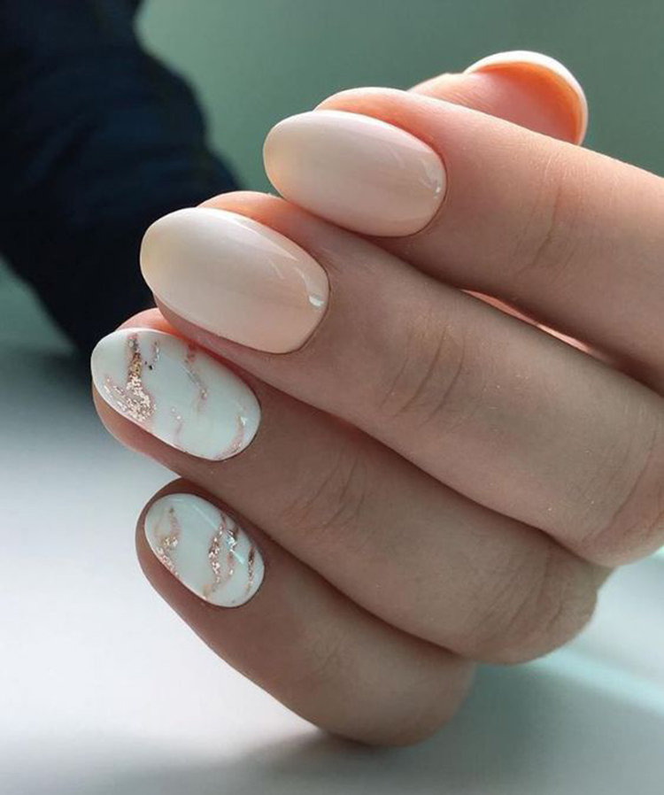 How to Make Almond Marble Nails