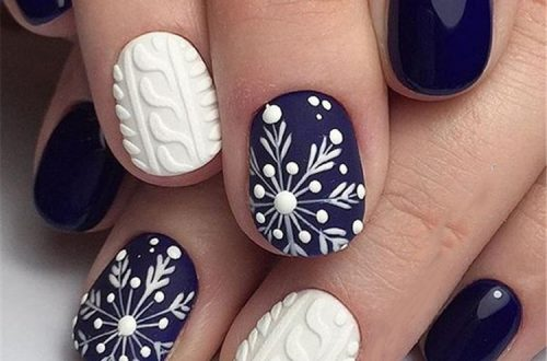 Winter Snowy Nails Art Design, Christmas nails, winter nails, Snow nails, White nails, acrylic nails, square nails,