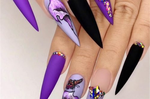 Trend Stiletto Nails in 2019; Stiletto Coffin Nails; Stiletto Nails Designs; Nails Acrylic;#Stilettonails