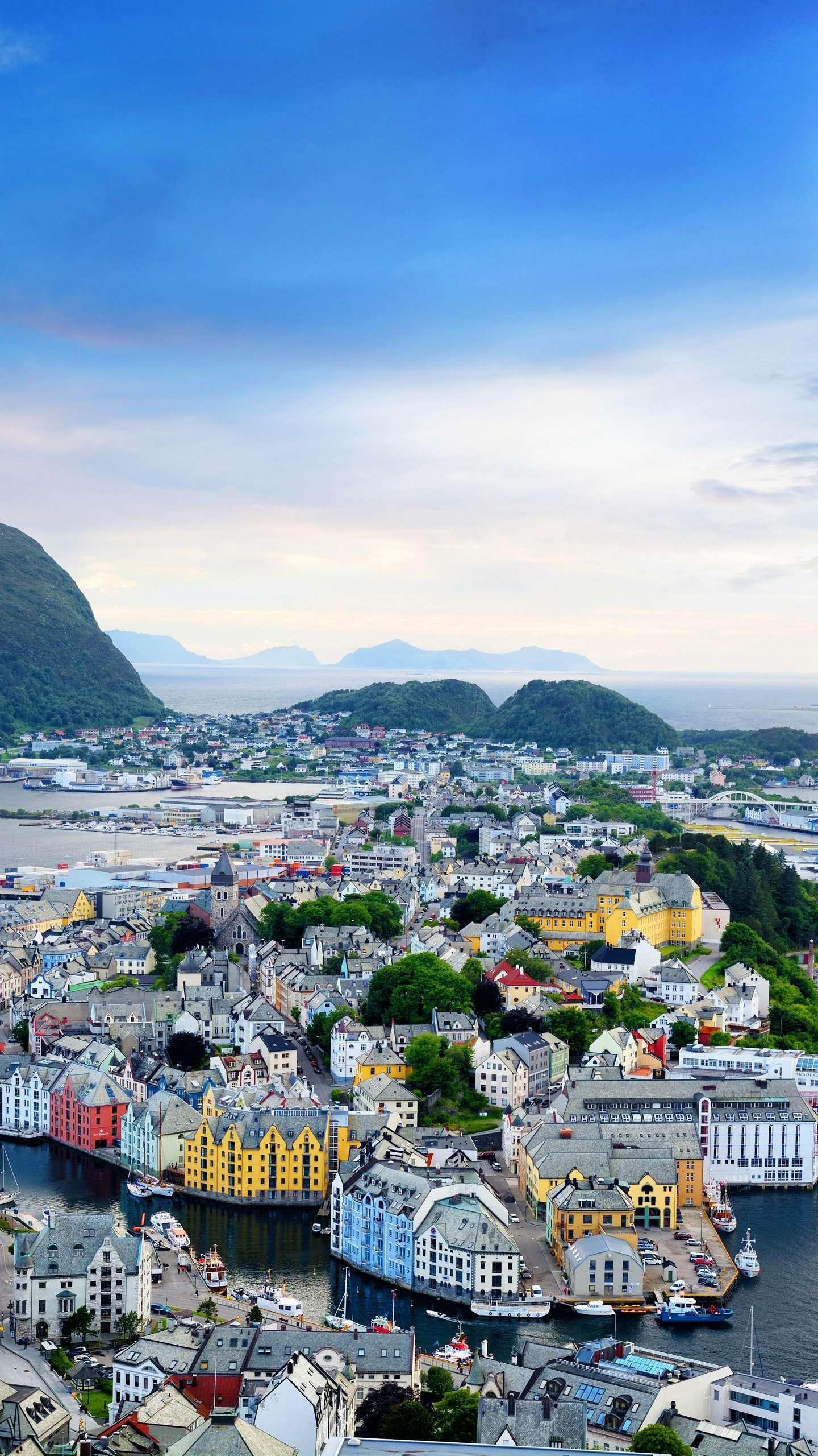 Norway - Ålesund. The Art Nouveau architecture, the natural landscape surrounded by the fjord, is the hallmark of Ålesund.