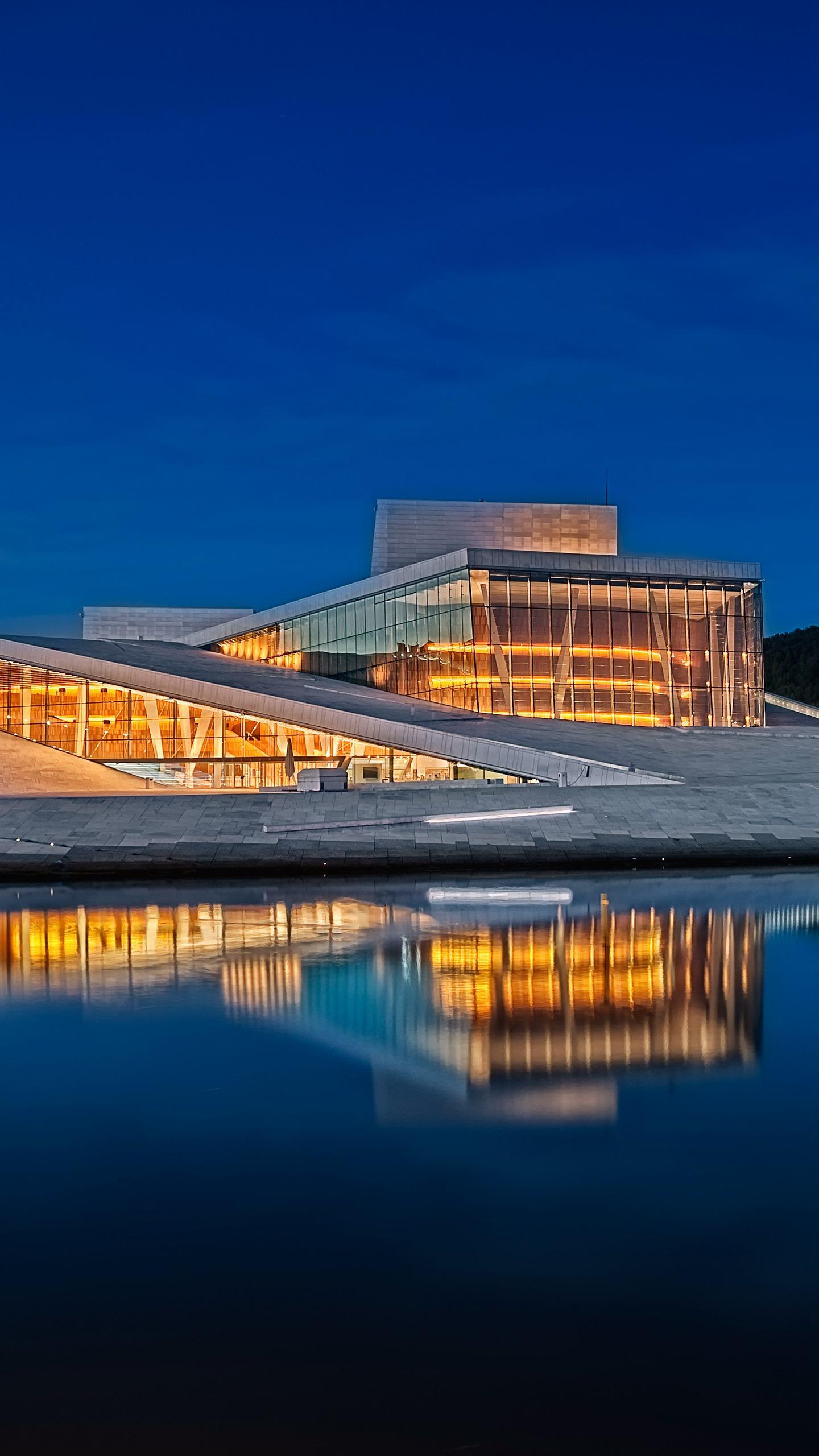 Norway - The Oslo Opera House is made of marble and glass. It looks like a boat, simple and modern in style, and magnificent.