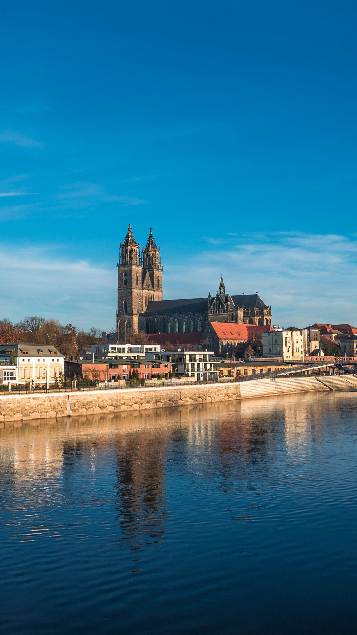 Germany - Magdeburg. The preserved buildings of each period form a new and old overlap, presenting a diverse style.