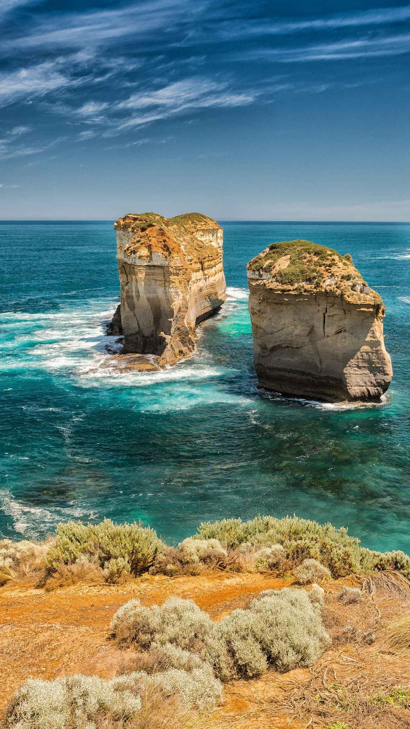 Australia's Great Ocean Road. It has passed through beaches, cliffs, rainforests and small towns and is known as the world's most beautiful coastal road.