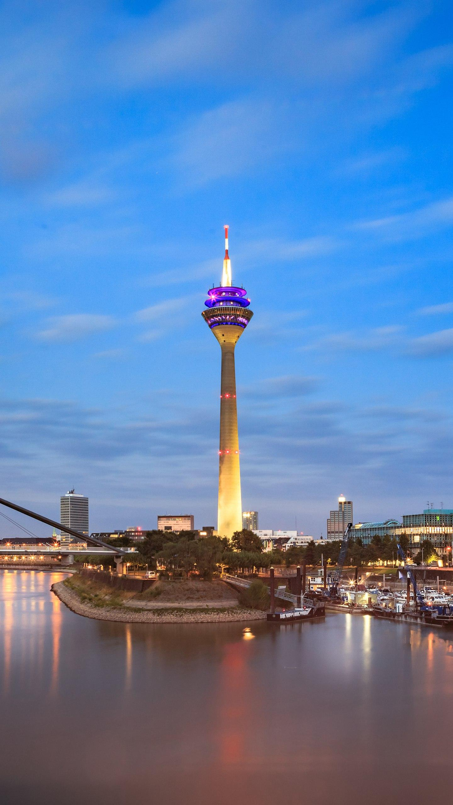 Germany - Düsseldorf. Located on the banks of the Rhine, it is a famous city of German culture and art. It is also a tourist attraction.