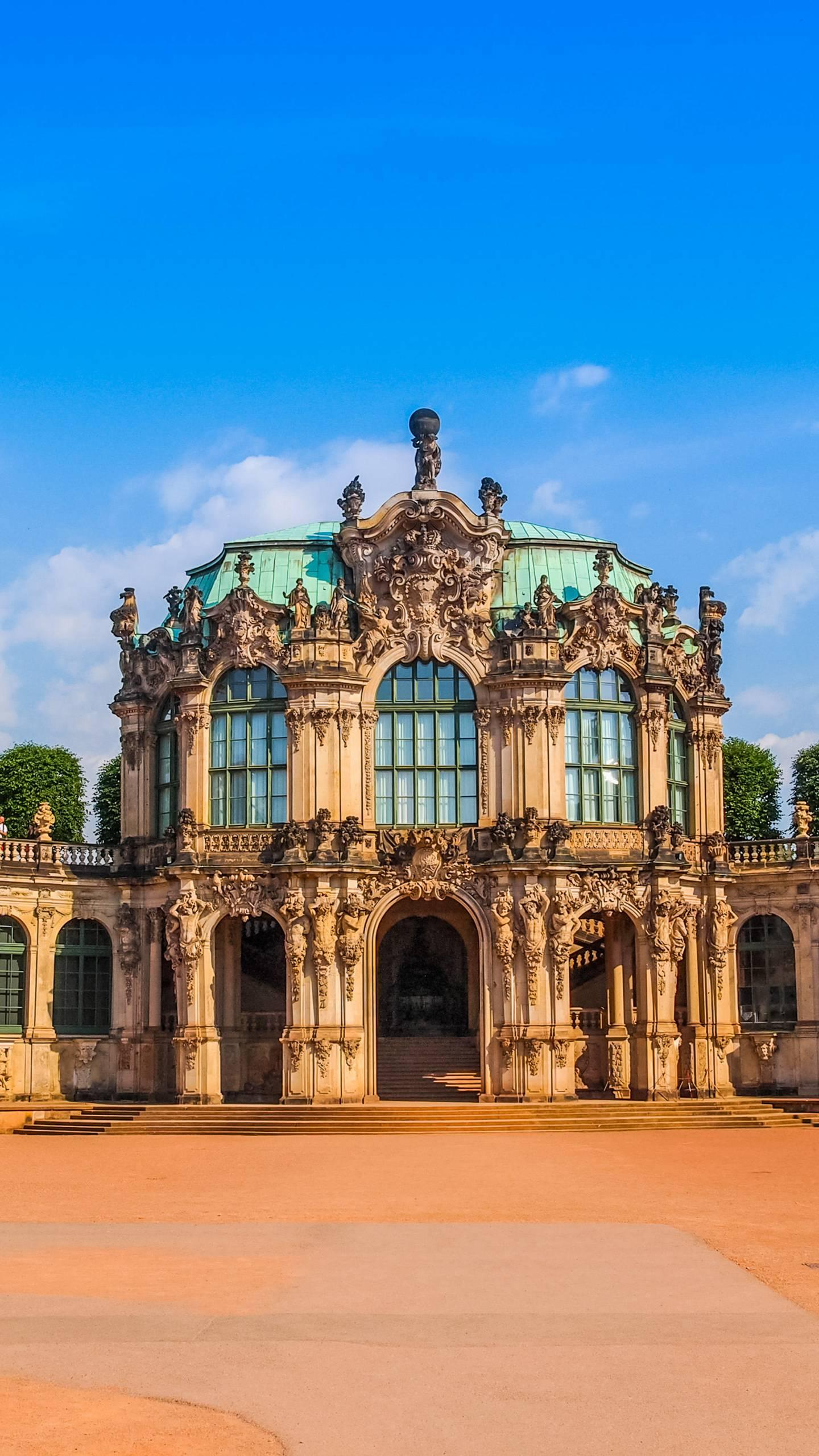 Dresden - Zwinger Palace. Germany's most striking Baroque building, also a symbol of Dresden, was built in 1709.
