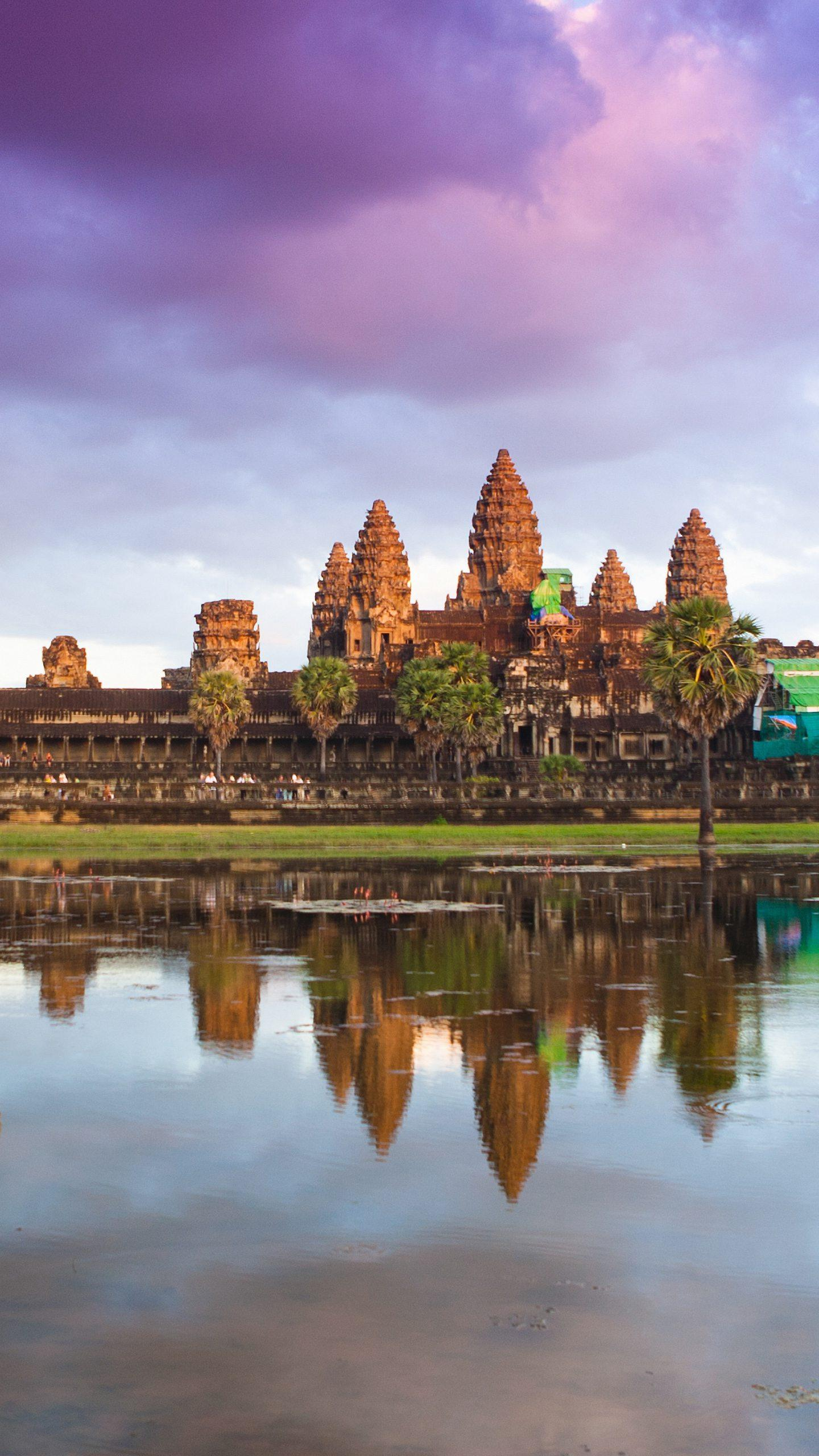 The gorgeous epic on the stone. Angkor Wat, located in Cambodia, is the world's first Khmer-style building.