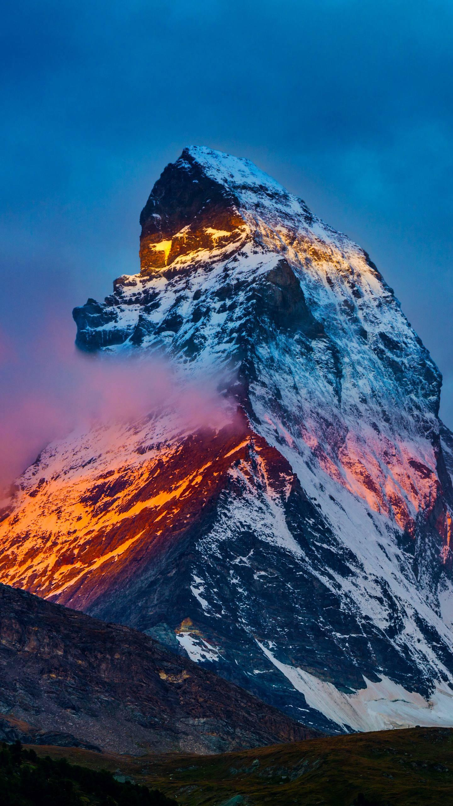 Matt Hung. Matterhorn is a four-sided cone, each side is very steep, strong and straight, pointing to the sky.
