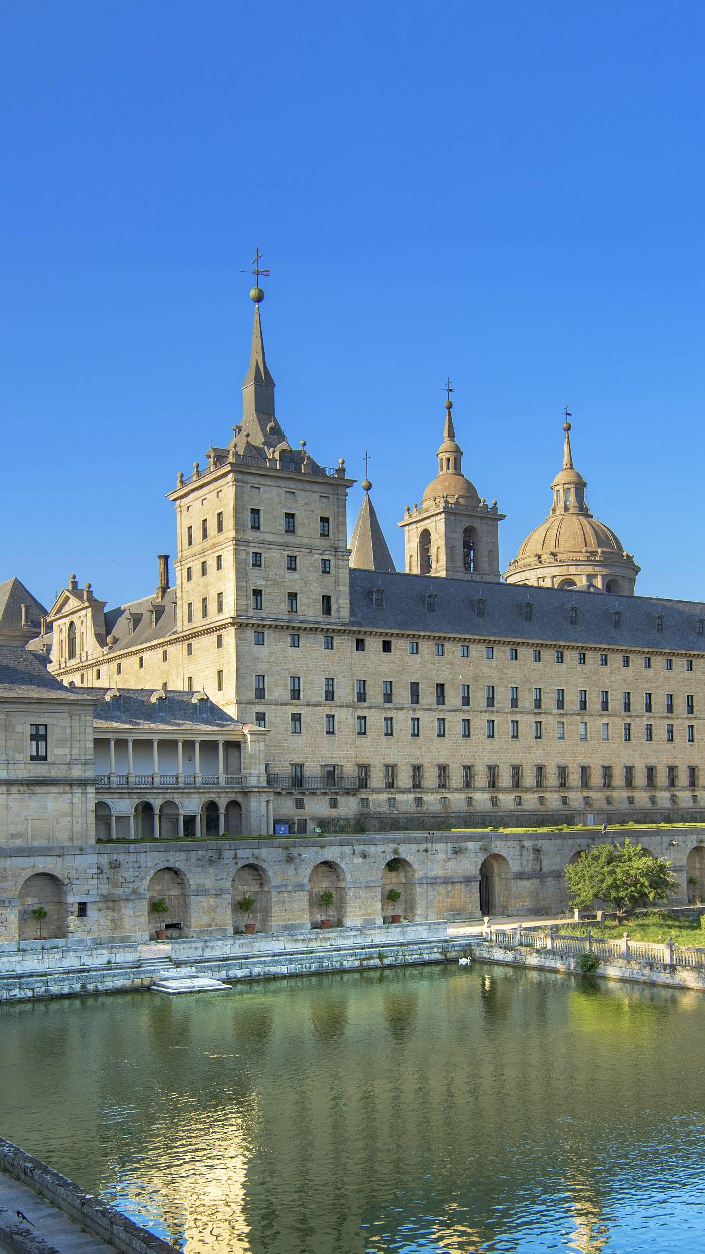 "The Escorial Monastery. The building is magnificent and is known as the ""eighth wonder of the world""."