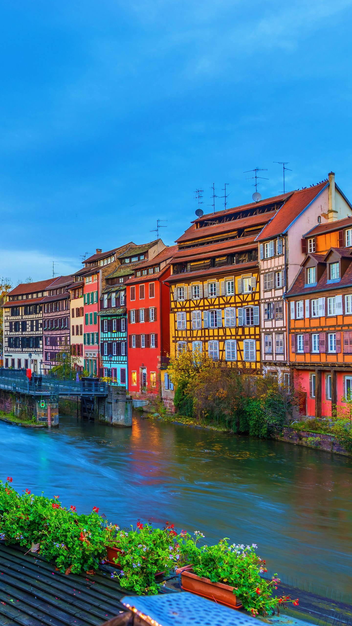 France - Strasbourg. The large number of buildings that have been preserved since the Middle Ages have made the city gorgeous and long.