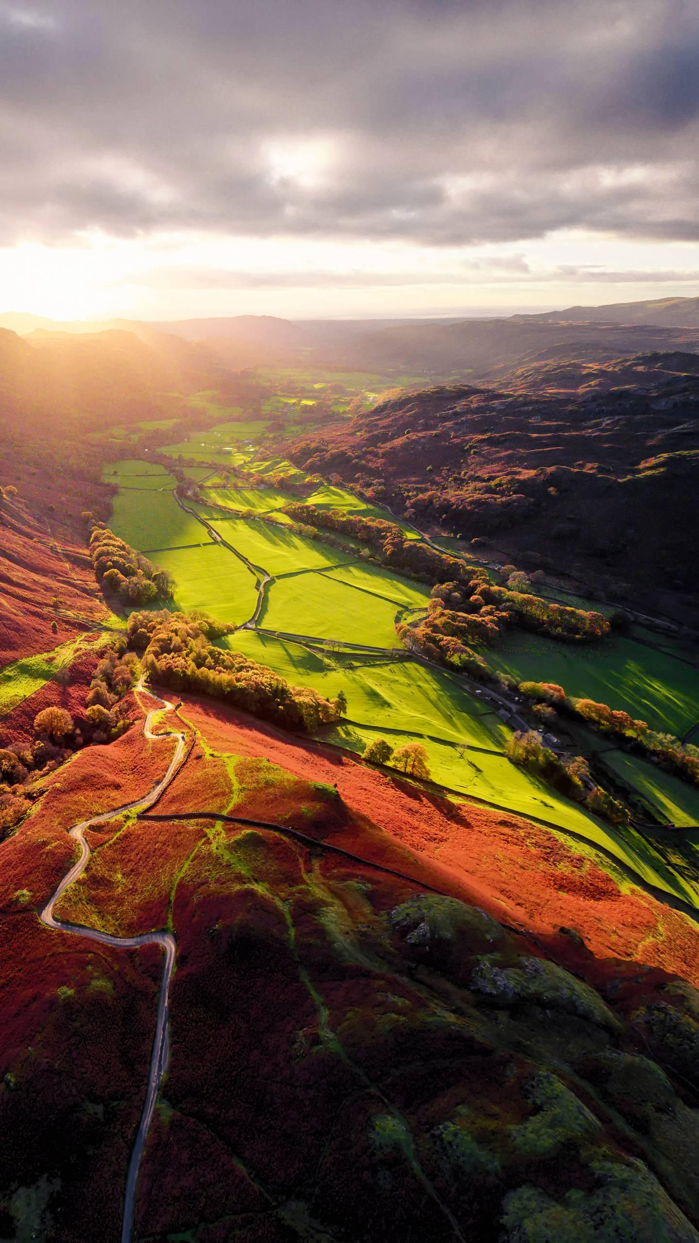 "United Kingdom - Lake District National Park. It's perfect to use the ""lakes and mountains"" to describe the scenery of the English Lake District, the most beautiful national park in the UK."