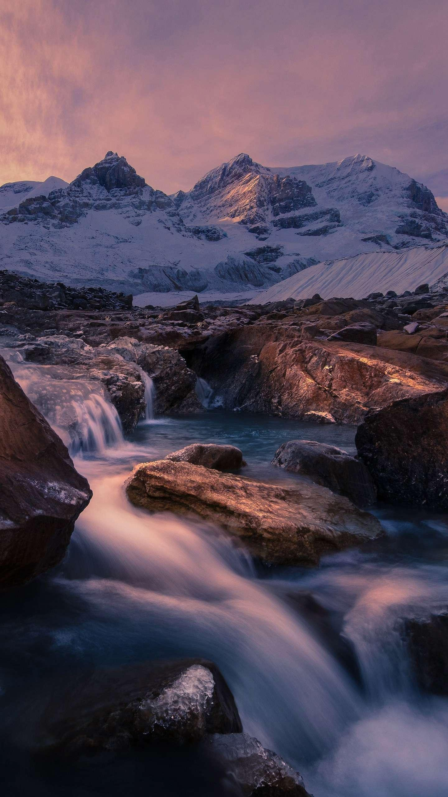 Columbia Icefields. The Canadian Columbia Icefield is the largest ice sheet outside the Arctic Circle and is currently receding at a rate of 10 meters per year.