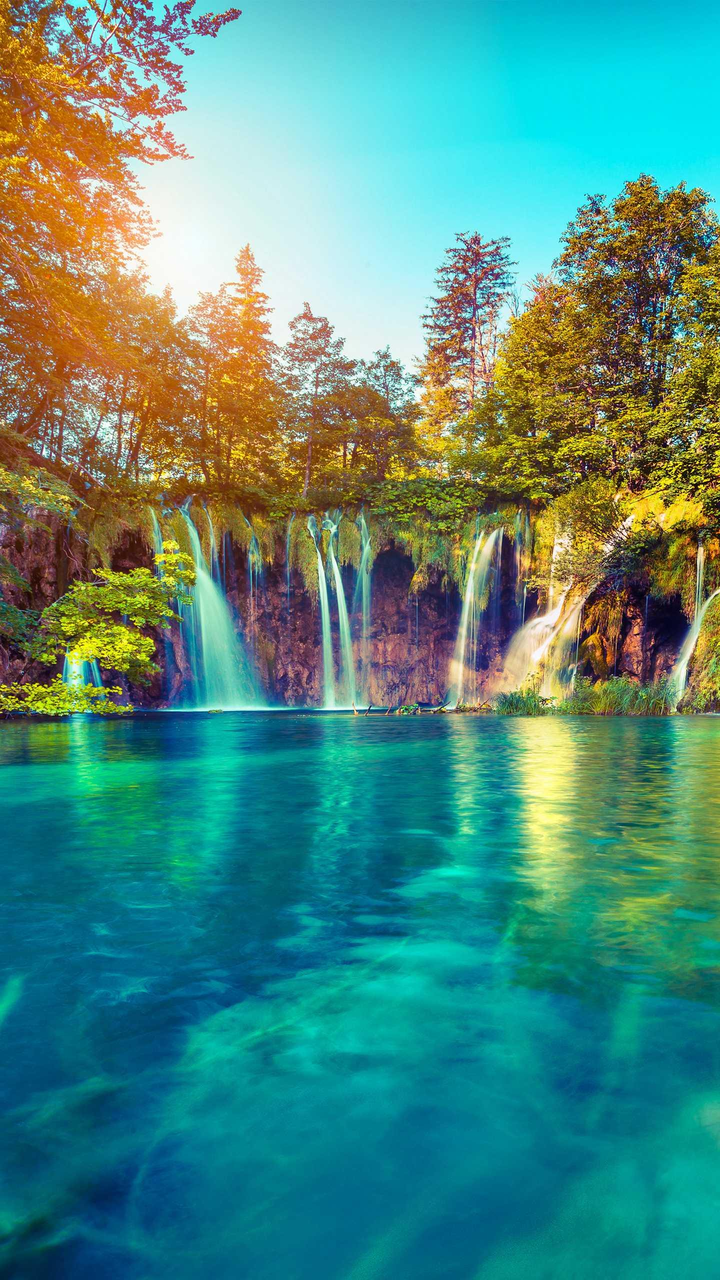 The Plitvice Lakes National Park in Europe, the most famous, beautiful and largest national park in Croatia.