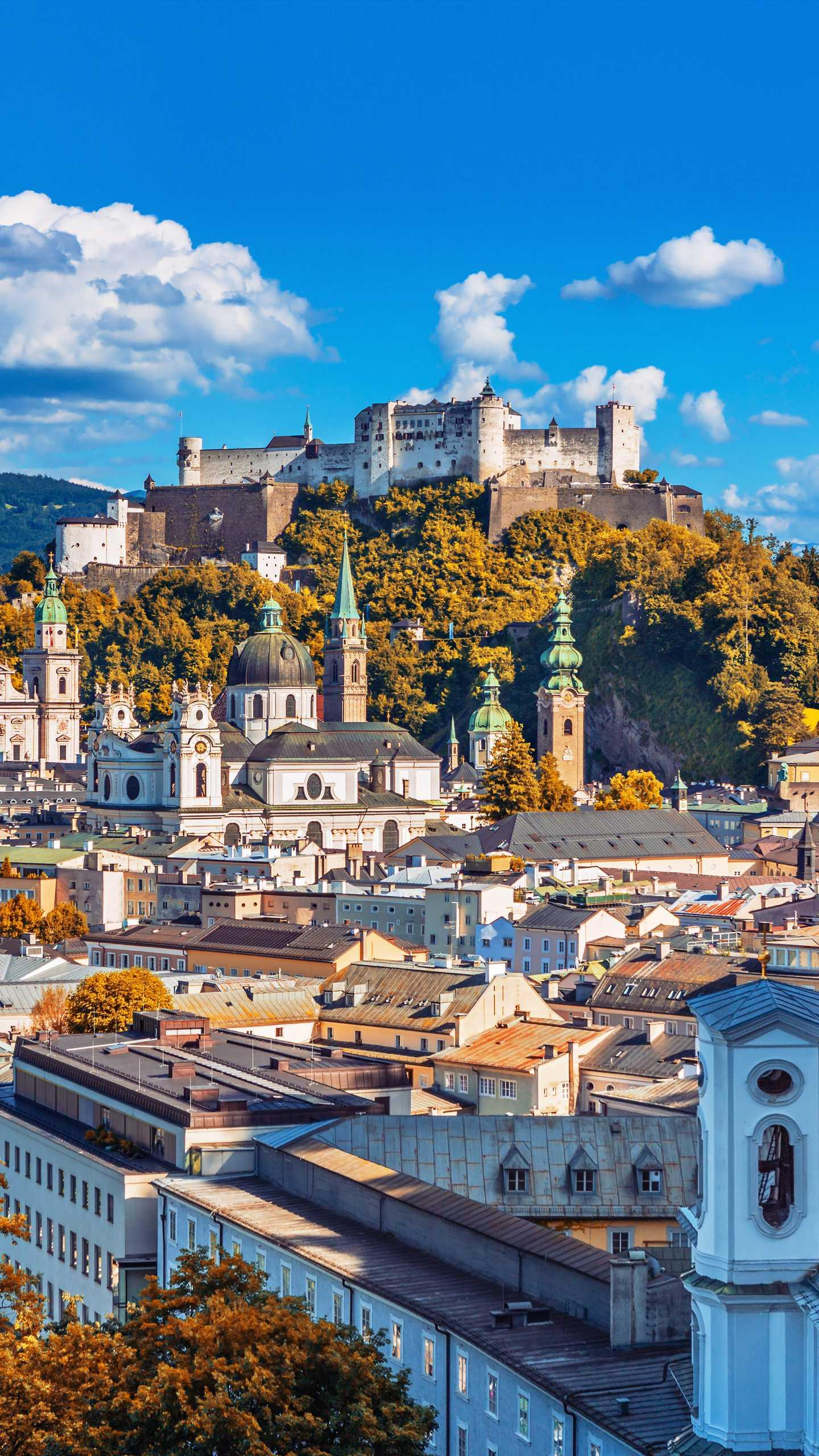 Austria - Salzburg. Located in the western part of Austria, it is the gate of the Alps and is the oldest city in Austria.