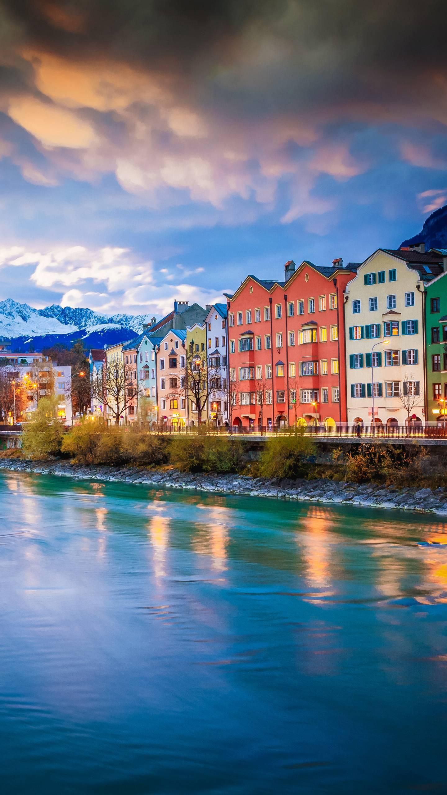 Austria - Innsbruck. This beautiful little town in the Alpine valley is a place to be seen at a glance.