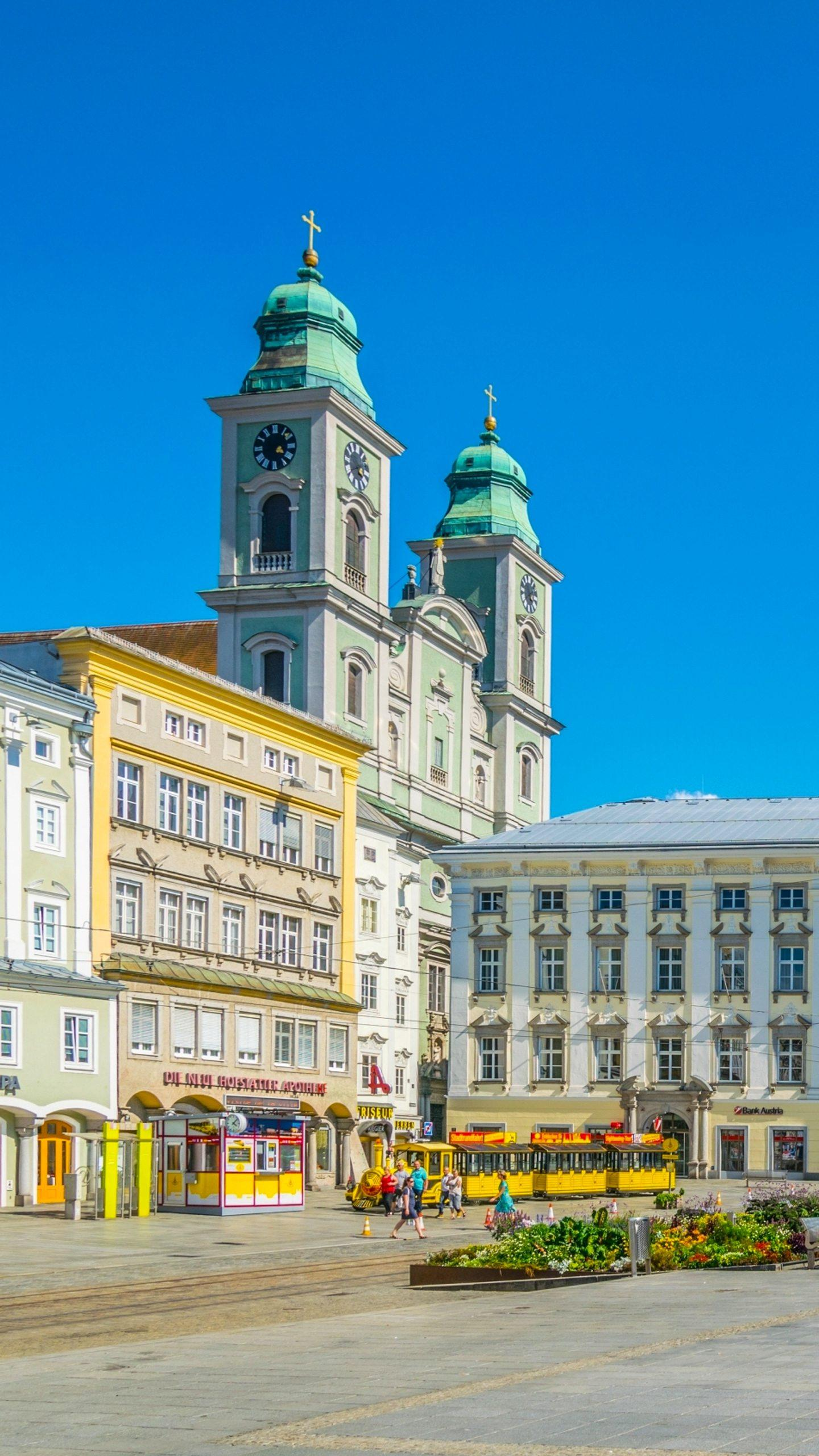 Austria - Linz. The capital of Upper Austria, originally established by the Romans, became an important trading center in the Middle Ages.