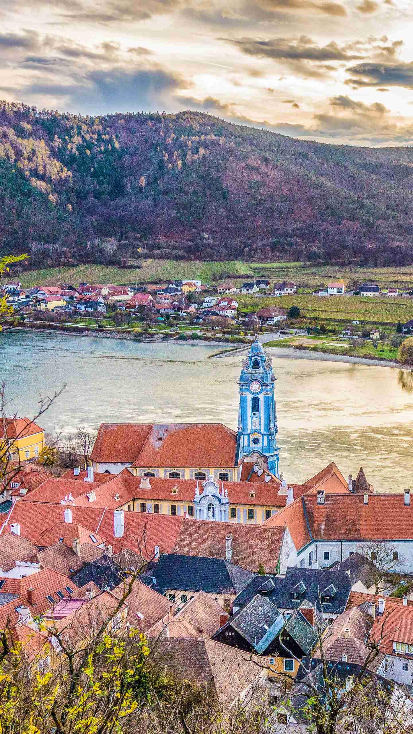The town of Wachau Valley. The Wachau Valley has some of the world's most beautiful riverside scenery, and the picturesque towns have made this place a charming romantic.