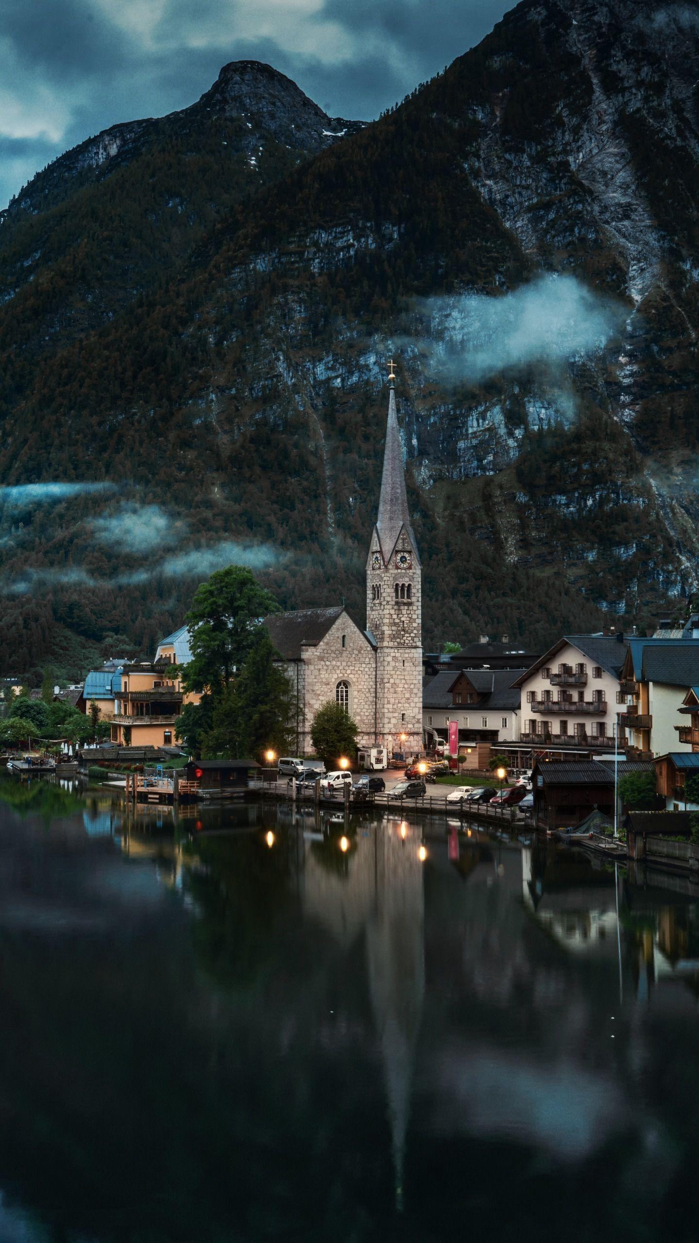 "Early morning in the town of Hallstatt. Hallstatt is an old Austrian town and is known as the ""Postcard from Heaven""."