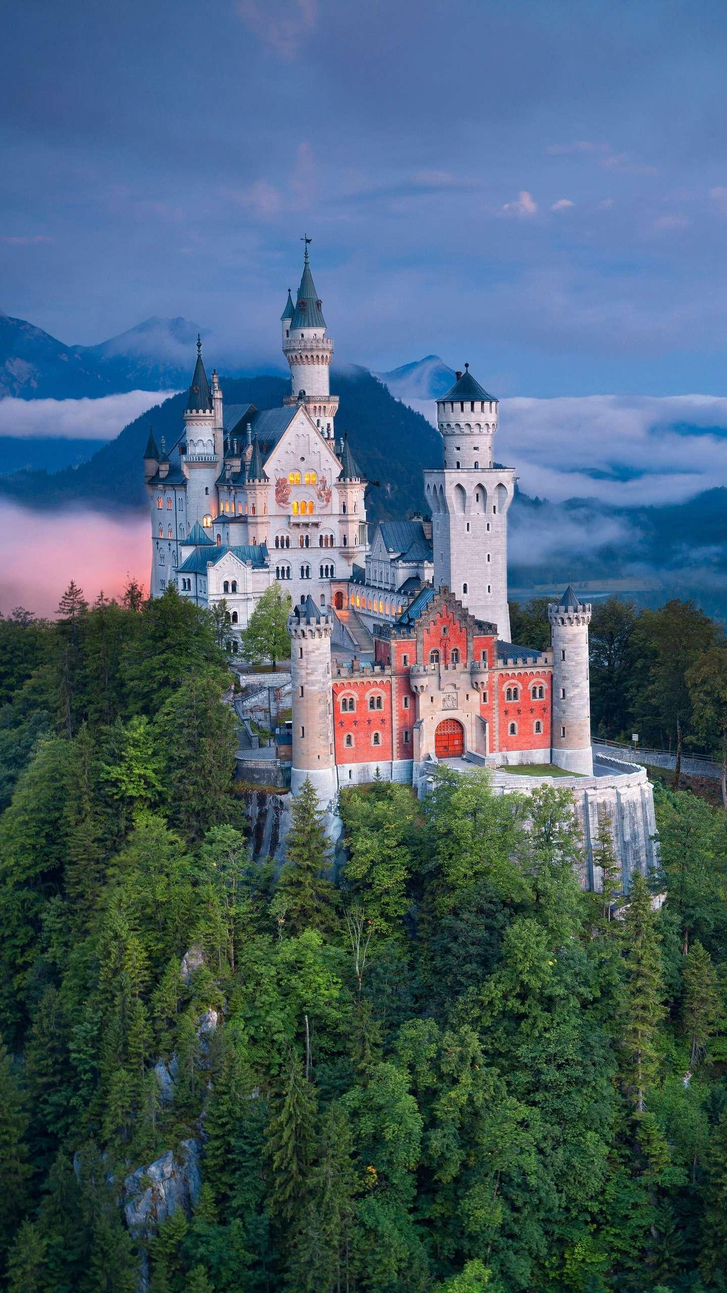 Neuschwanstein, Germany. Neuschwanstein Castle is a symbol of Germany. It is also known as the Snow White Castle because it is the prototype of Disney Castle.