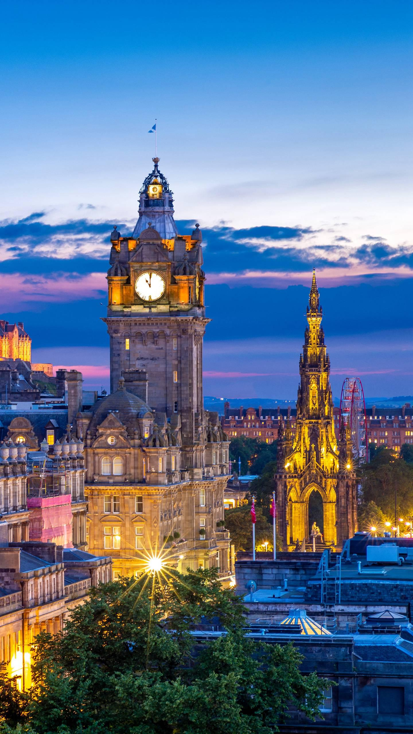 Britain - Edinburgh. The famous British cultural city and the capital of Scotland have a long history.