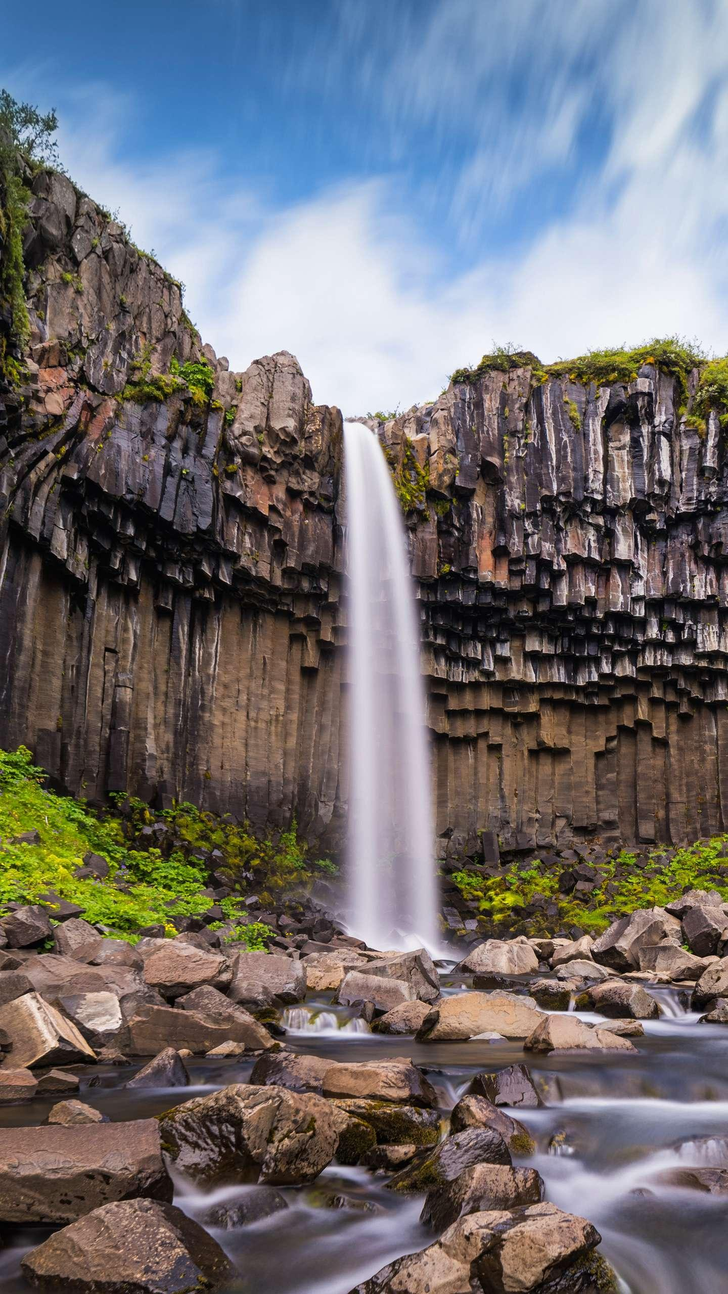 One of the most beautiful waterfalls in Iceland. One of the most unforgettable sights to visit Iceland is the beautiful waterfalls of Iceland.