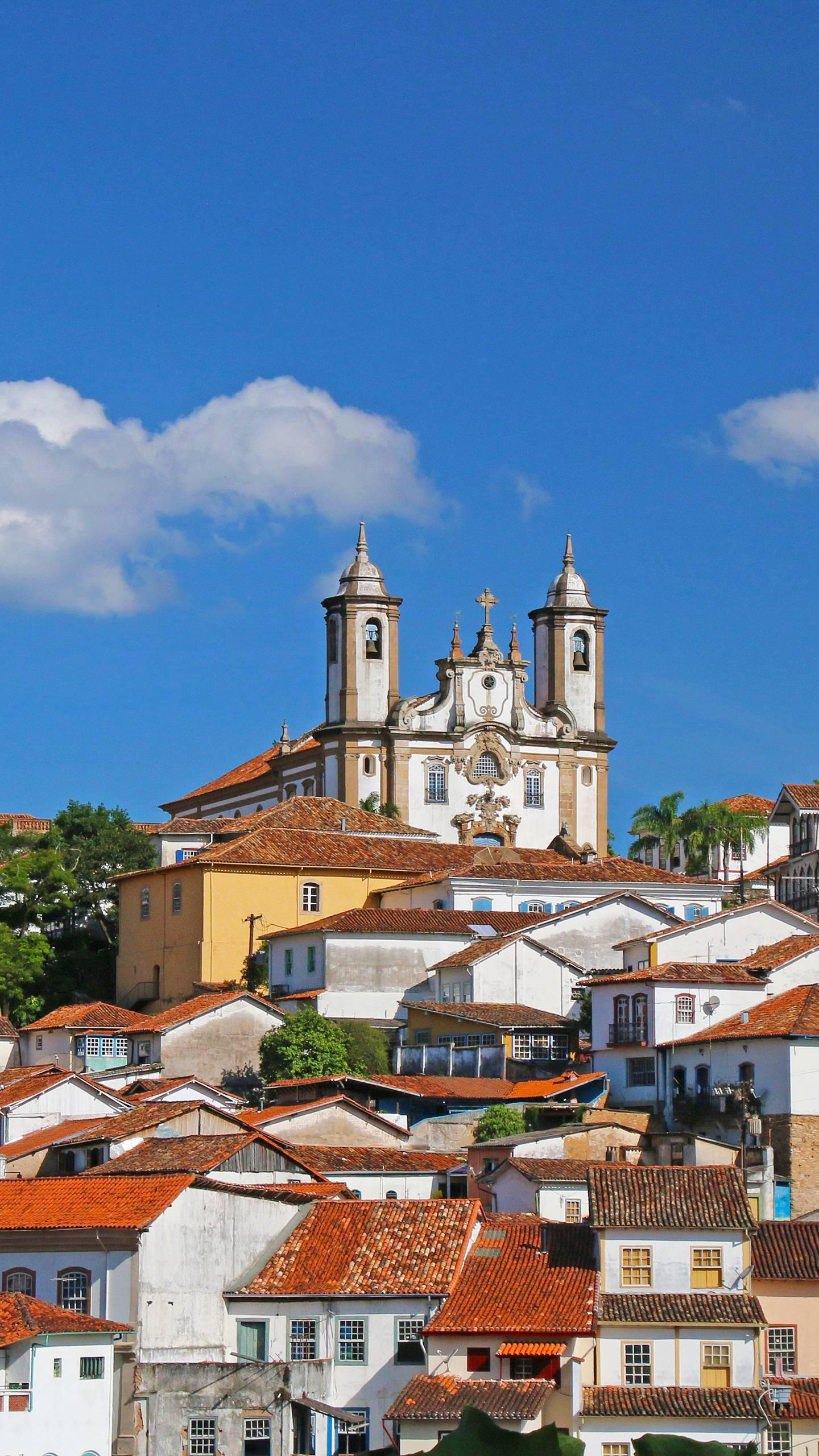 Brazil - Ouro Preto. The streets of the city are ups and downs, the layout is patchwork, and the Baroque architecture is timeless.
