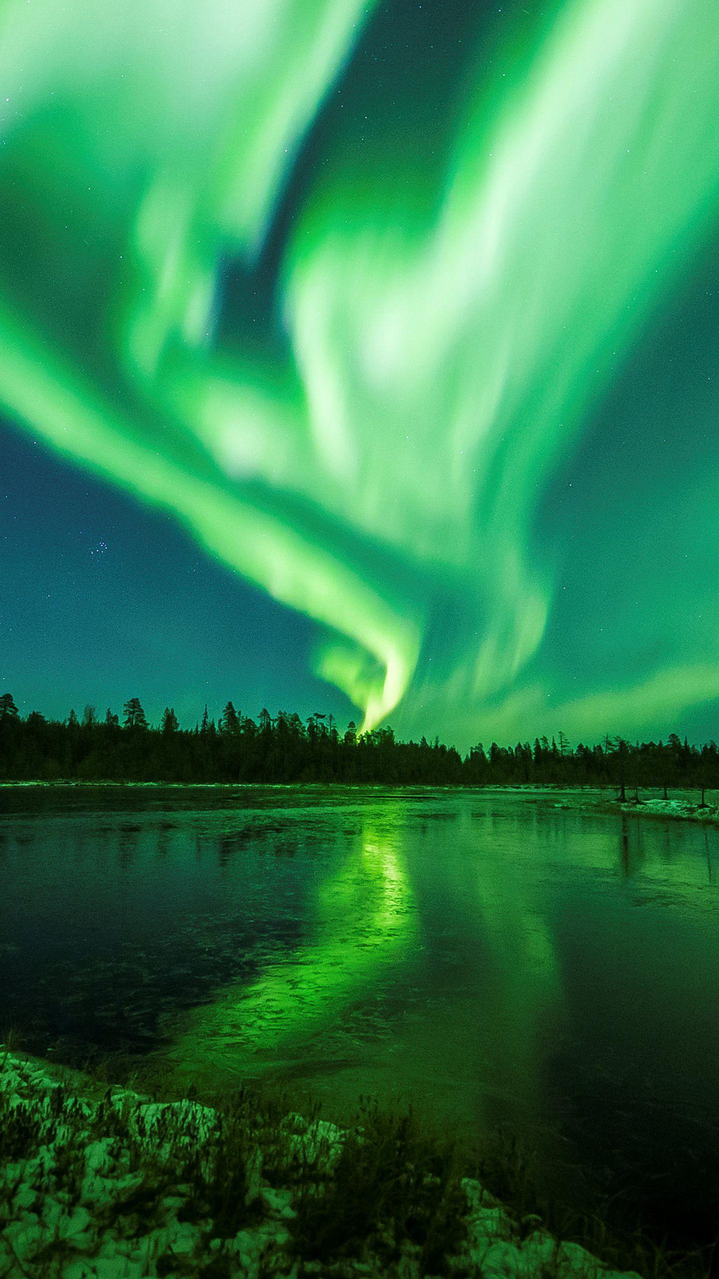 The power of nature. On October 7, 2018, local time, Aurora appeared in Lapland, Finland. ©Engraving Media