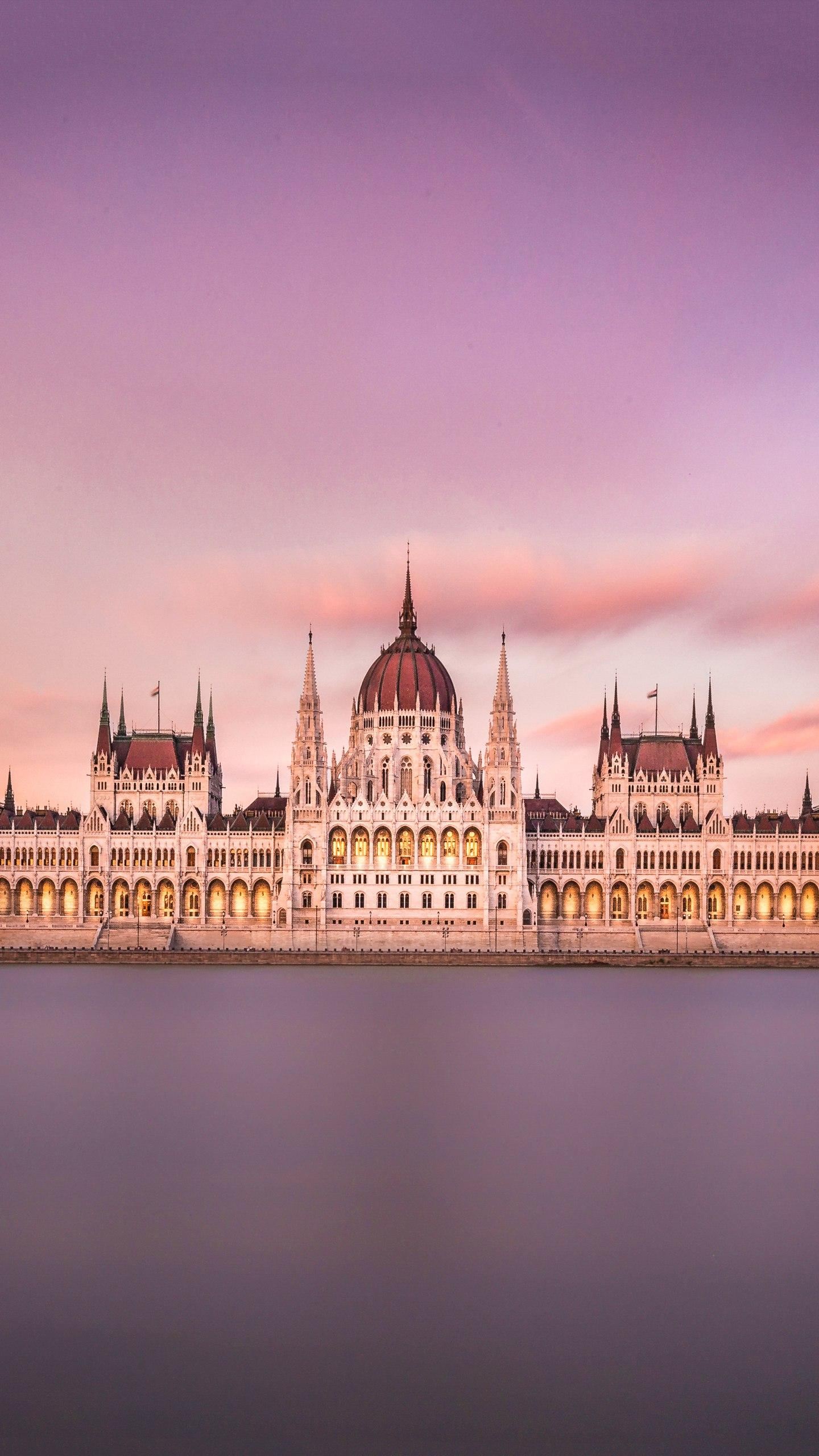 The Hungarian Parliament Building. Facing the Danube, the architectural style mimics the London Parliament Building and is one of the landmarks of Budapest, the capital of Hungary.