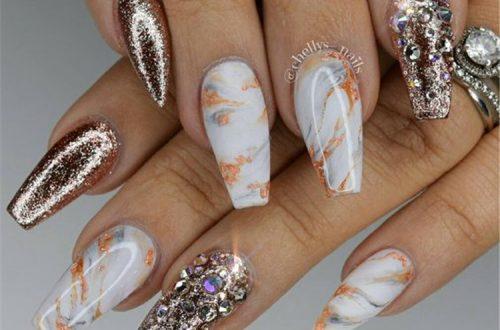 Long Marble Coffin Nails; Coffin Nails; Long Nails; Winter Nails; Marble Nails; Nails Design; White Nails; Acrylic Nails;