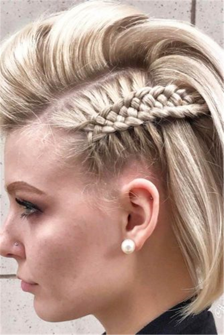 Braiding Short Hair; The Trendiest Braiding Hairstyles; Elegant Dutch Braids;Perfectly Cornbraids; Hairstyles Ideas With Side Braids;
