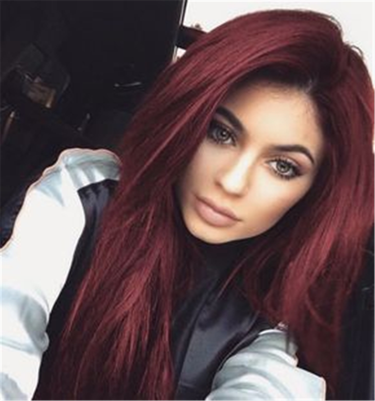 burgundy hairideas in spring and summer of 2019; trendy hairstyles and colors 2019; women hair colors; #hairscolor