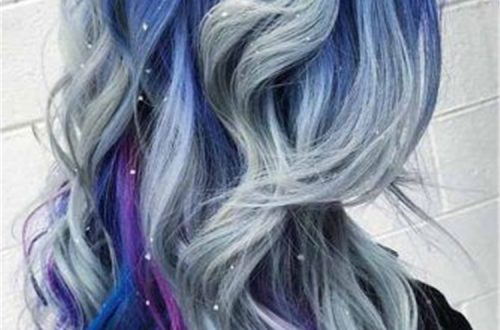 blue ombre hair color trend in 2019; trendy hairstyles and colors 2019; blue ombre hair; #haircolor #blueombrehair