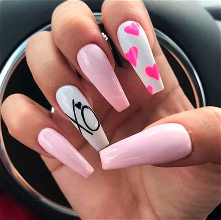 2019 Easy Tutorials of Hot Valentines Nails Designs Sumcoco Blog