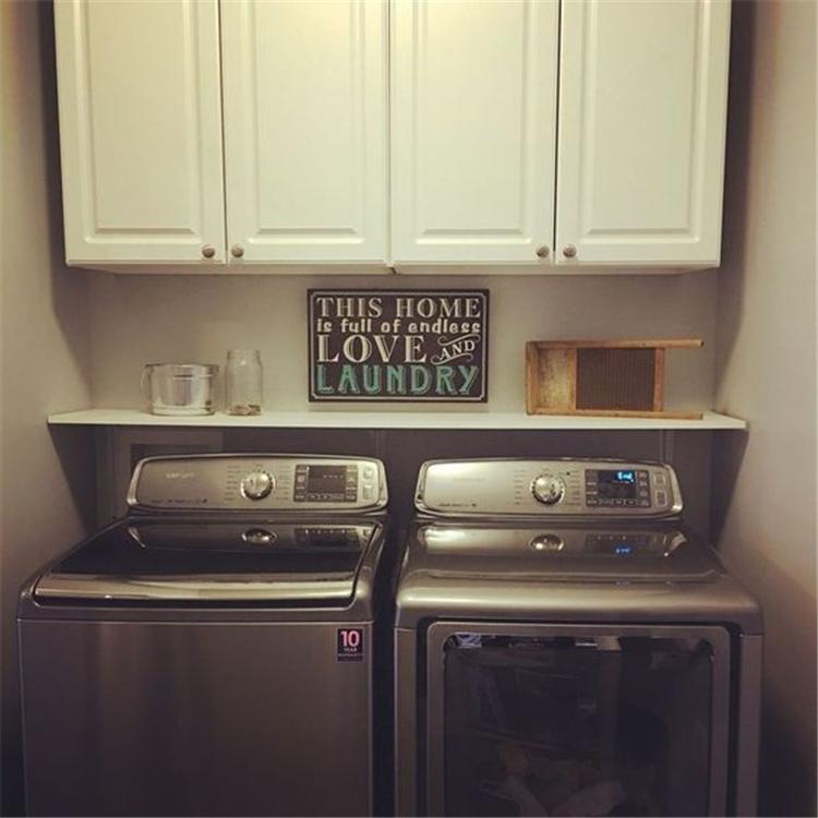 laundry room decor ideas; small laundry room organization ideas; laundry room organization storage; #laundryroomdecor