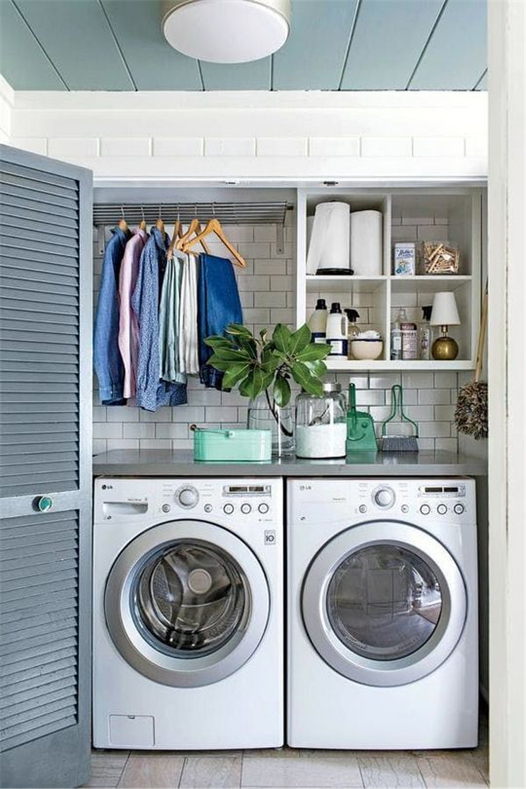 42 Small Laundry Room Organization Decor Ideas Sumcoco Blog