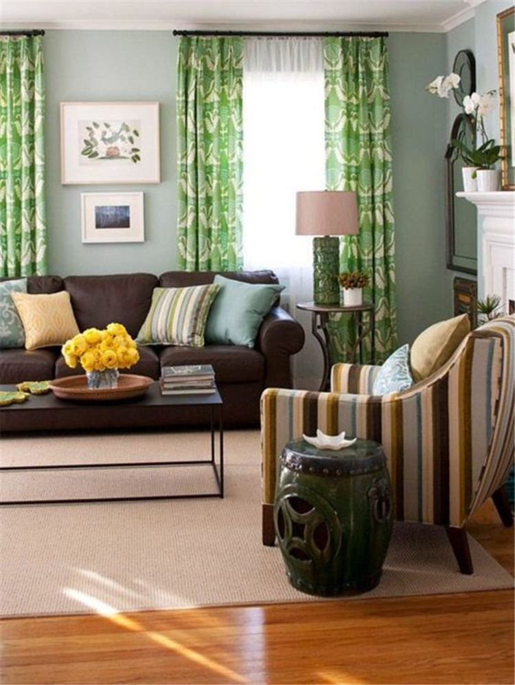 Living Rooms Ideas With Combinations Of Grey Green; living room decor on a budget; modern Living Room; modern farmhouse living room; #livingroomdecor