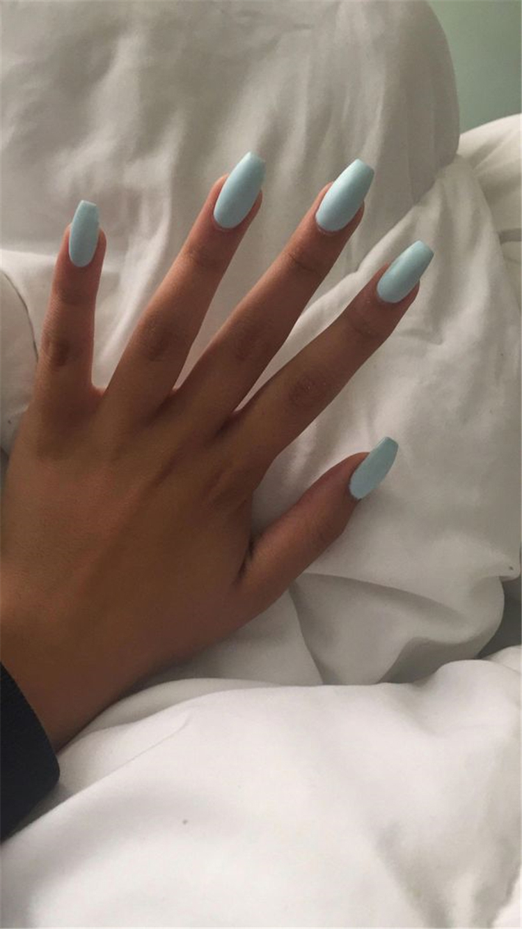 Fascinating matte coffin Acrylic Nails;Spring Nails; Acrylic Nails; coffin Nails; matte coffin Acrylic Nails Designs; long Nails; #mattecoffinnails