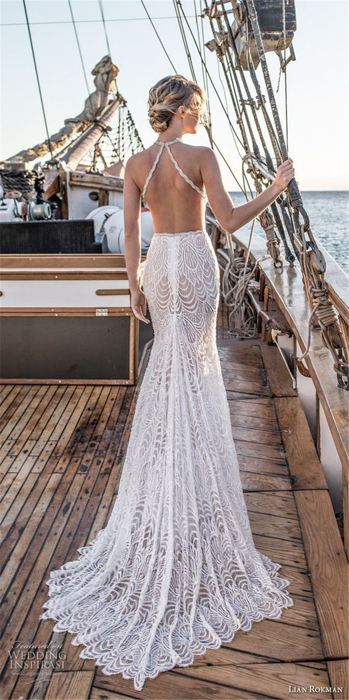 sexy wedding dress; open-back wedding dresses; white wedding dresses; elegant wedding dresses; romantic wedding; #weddingdress