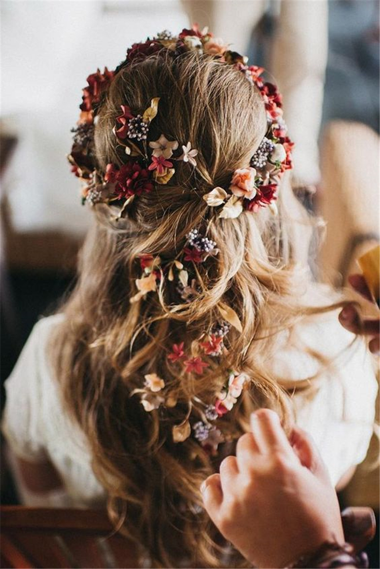 wedding hairstyles trendy hairstyles and colors 2019; wedding hairstyles half up half down; wedding hairstyles for long hair; #weddinghairstyles