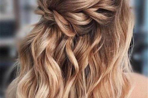 glamorous and timeless wedding hair half up half down hairstyles; wedding hairstyles trendy hairstyles and colors 2019; wedding hairstyles half up half down; wedding hairstyles for long hair; #weddinghairstyles