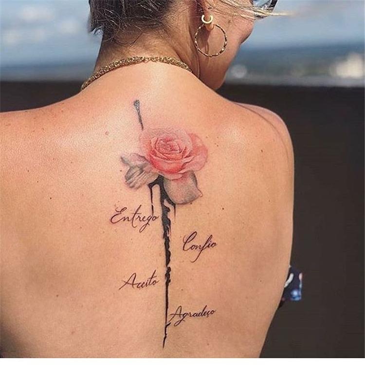 bold women back tattoo ideas art designs; tattoo ideas unique meaningful; women tattoo ideas; #backtattoos #tattoodesigns