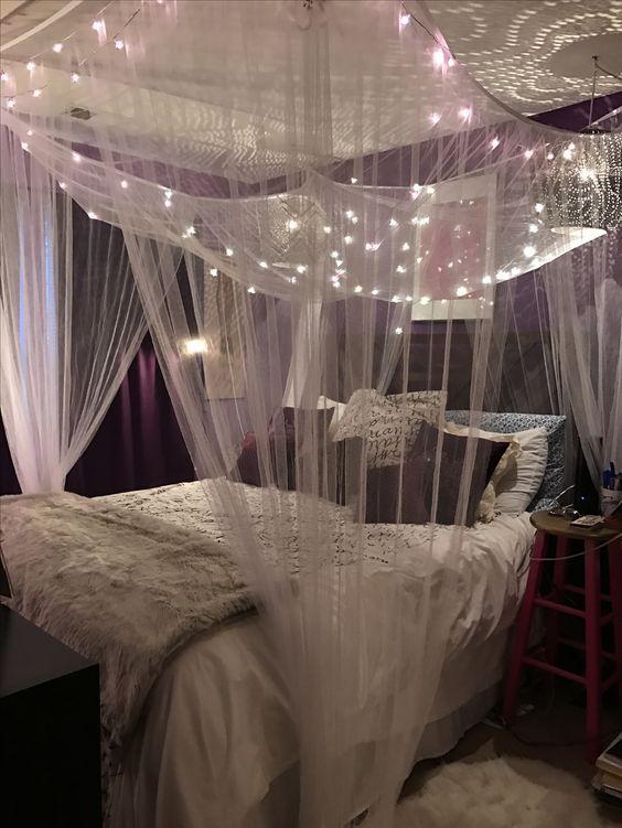 35 fantastic led string lights decor girls bedroom