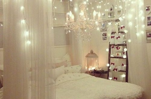 fantastic led string lights decor girls bedroom; led lights bedroom decor dream rooms; pink bedroom decorating ideas; #bedroomdecor #roomdecor