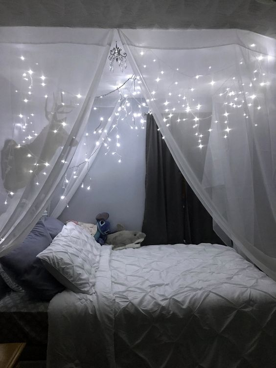 35 Fantastic Led String Lights Decor Girls Bedroom