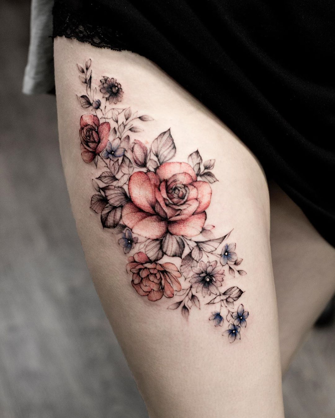 50 Sweet Summer Colorful Flower Tattoo Designs