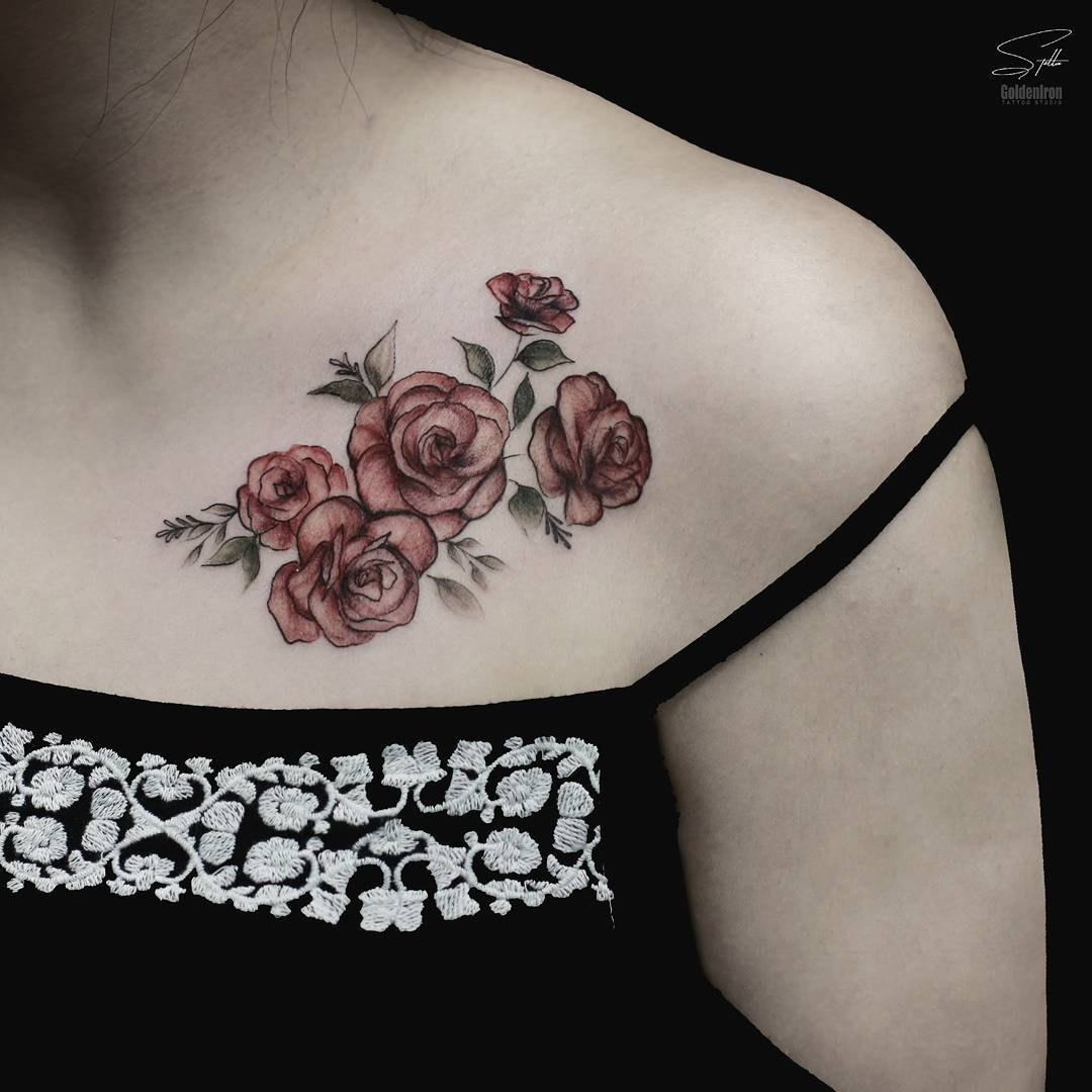 50+ sweet summer colorful flower tattoo designs; summer tattoo ideas beach; women tattoos; colorful tattoos; flower tattoos; mini tattoos