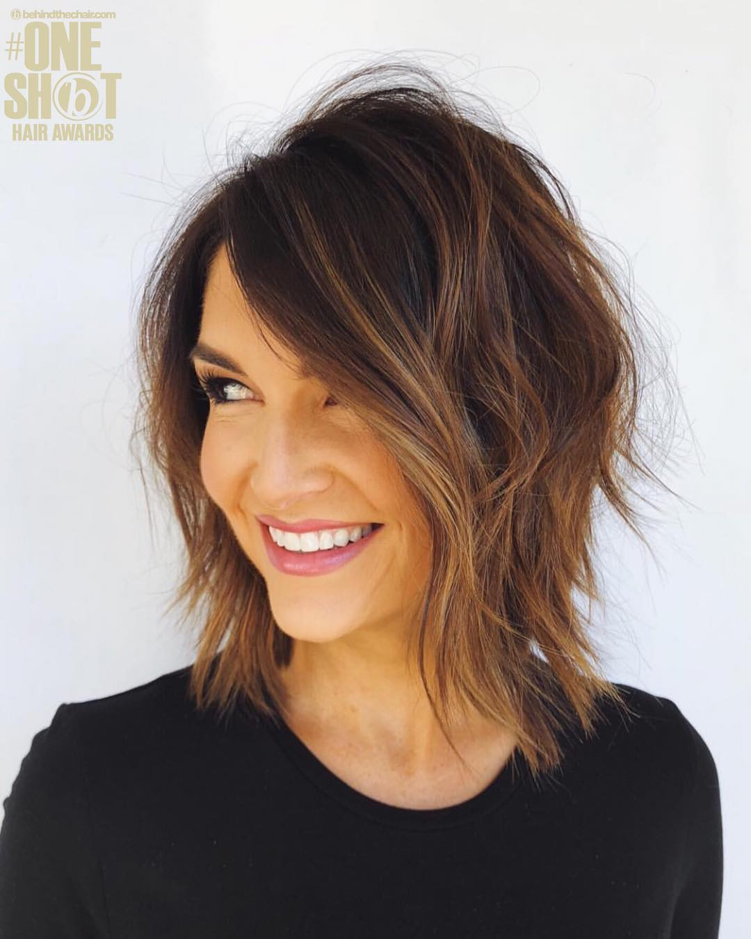 medium layered bob hairstyle;bob hairstyles for fine hair;short hairstyle women;2019 trending hairstyles