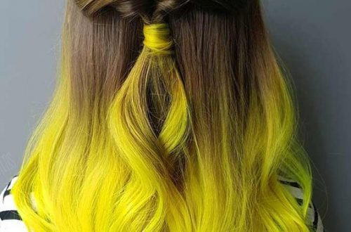 ombre yellow hair colors; coolest hairs color trends in 2019; trendy hairstyles and colors 2019; women hair colors; #haircolor#ombrehair#ombrehairideas