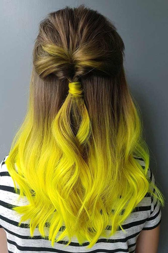 34 Trendy Yellow Ombre Hair Colors Ideas